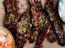 Korean Short Ribs With Asian Pear + Kimchi Salad