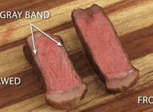 Compare the difference in the two ways to grill steak